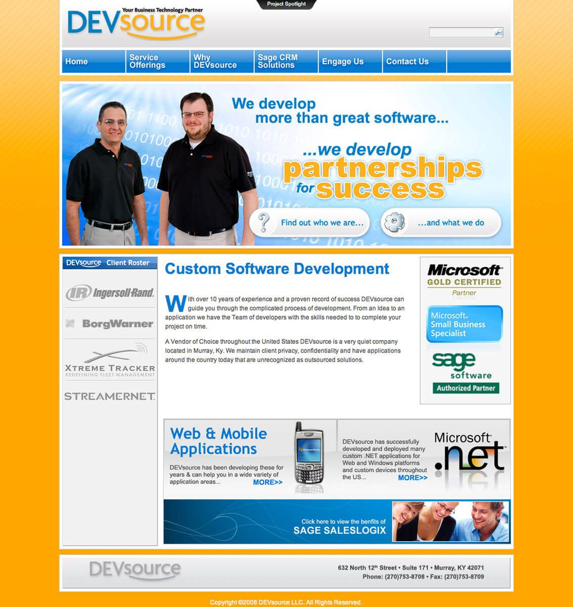 DEVsource website by EyeSite Creations