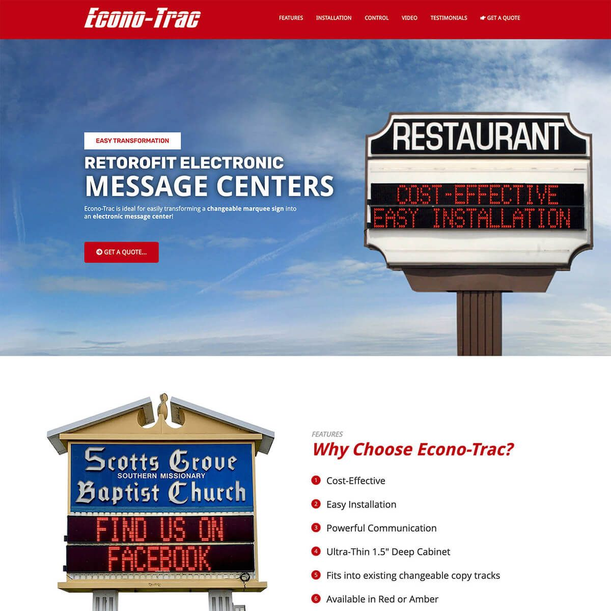 Econo-Trac website by EyeSite Creations