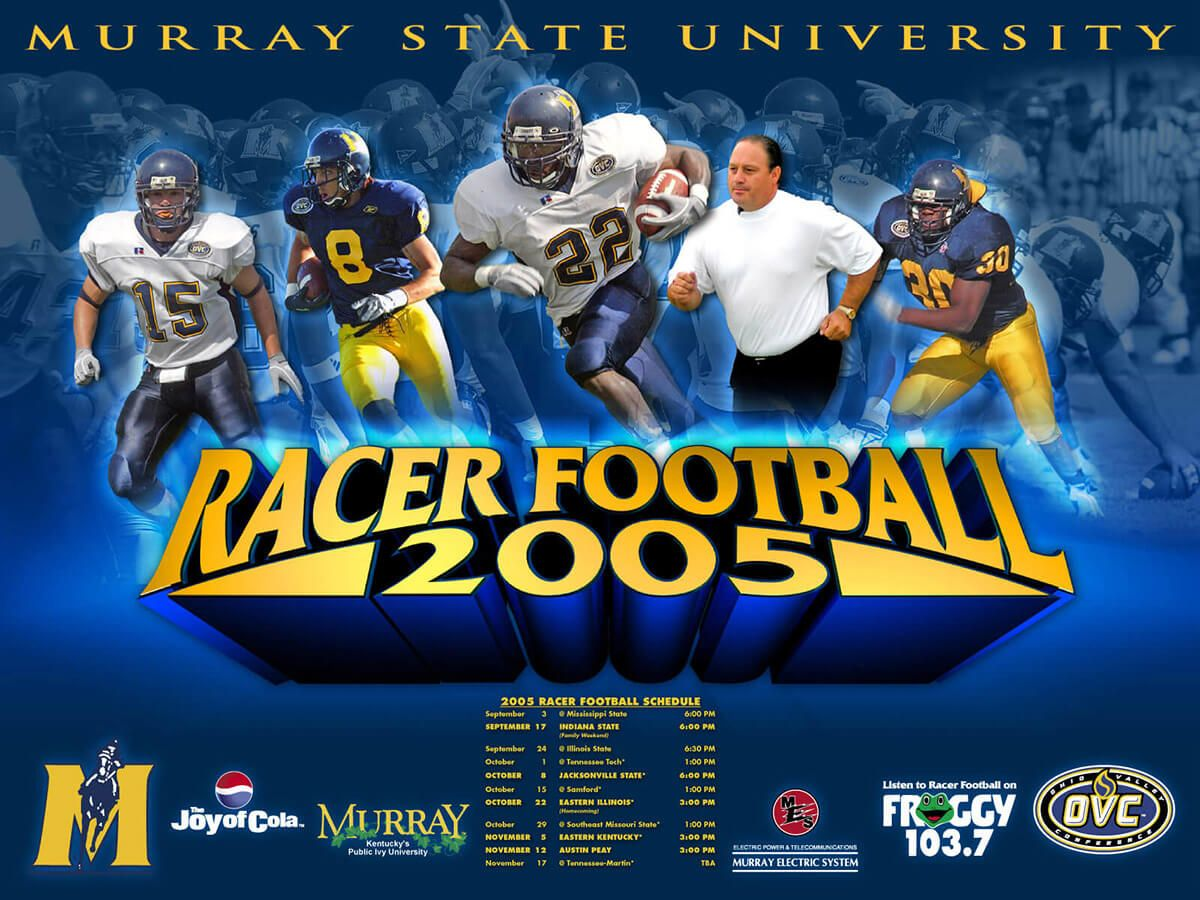 Murray State University football poster by EyeSite Creations
