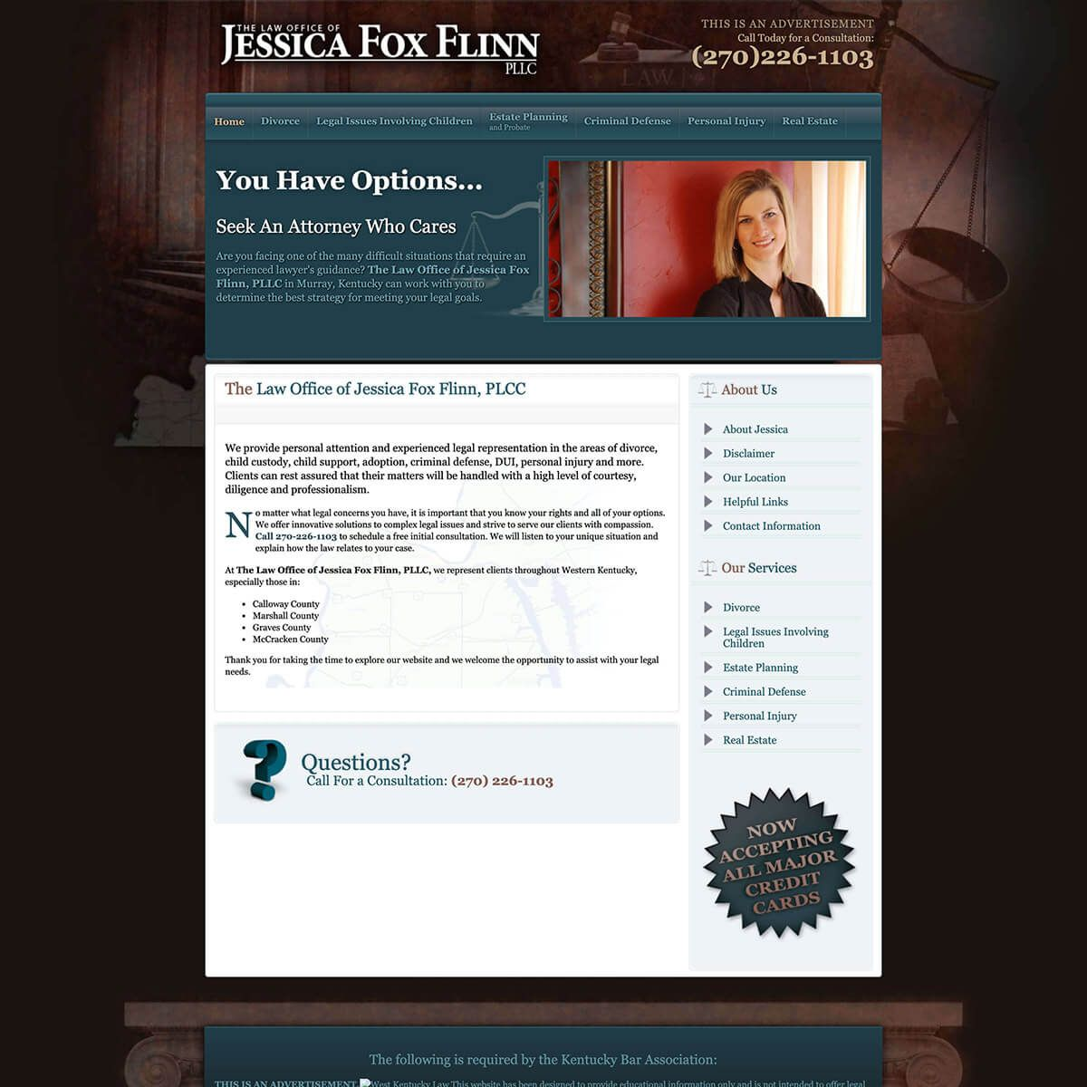 Jessica Fox Flinn website by EyeSite Creations