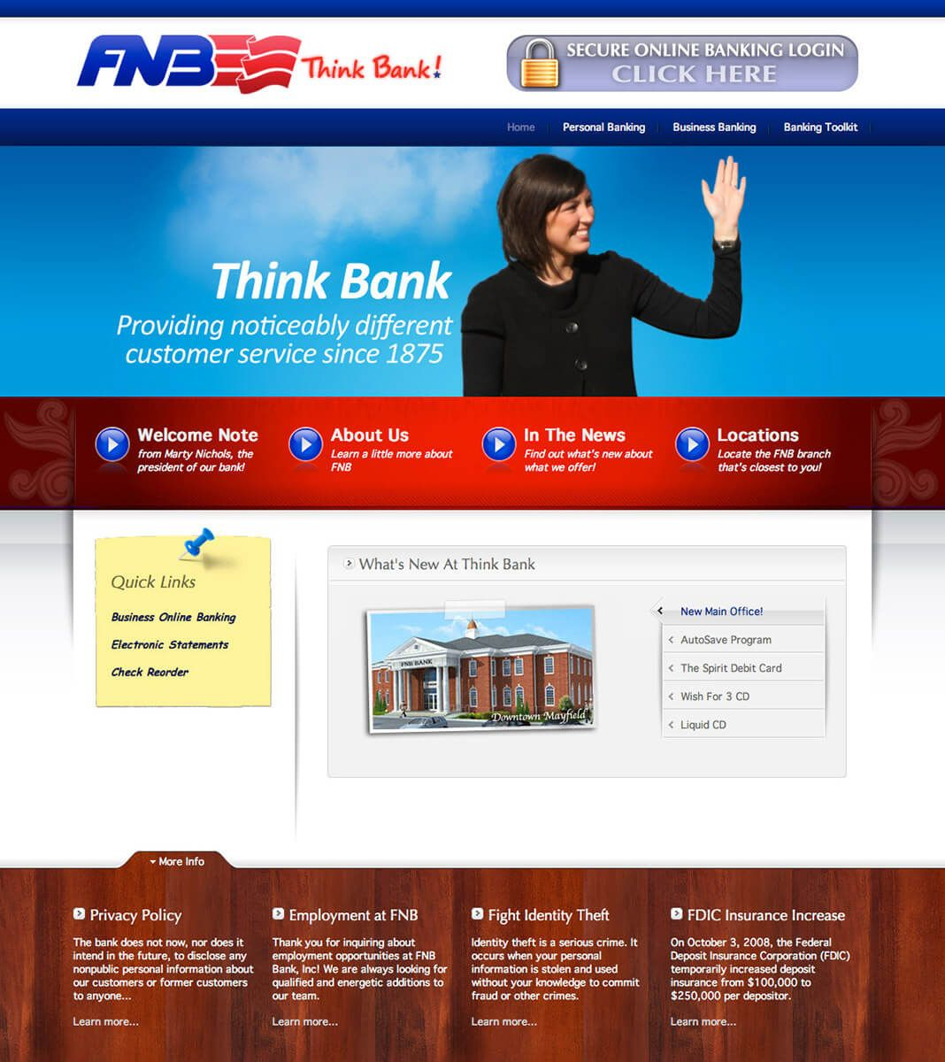 FNB Bank website by EyeSite Creations