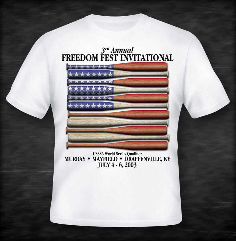 Freedom Fest Baseball Tournament shirt by EyeSite Creations