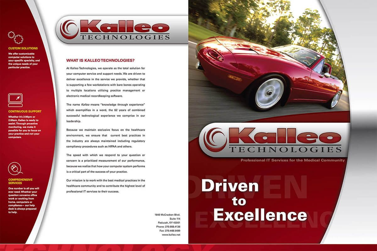 Kalleo Technologies brochure by EyeSite Creations