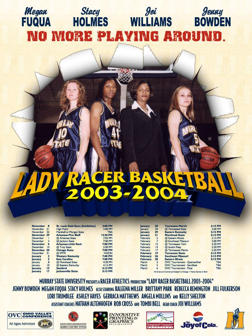 Murray State University Women's Basketball poster by EyeSite Creations
