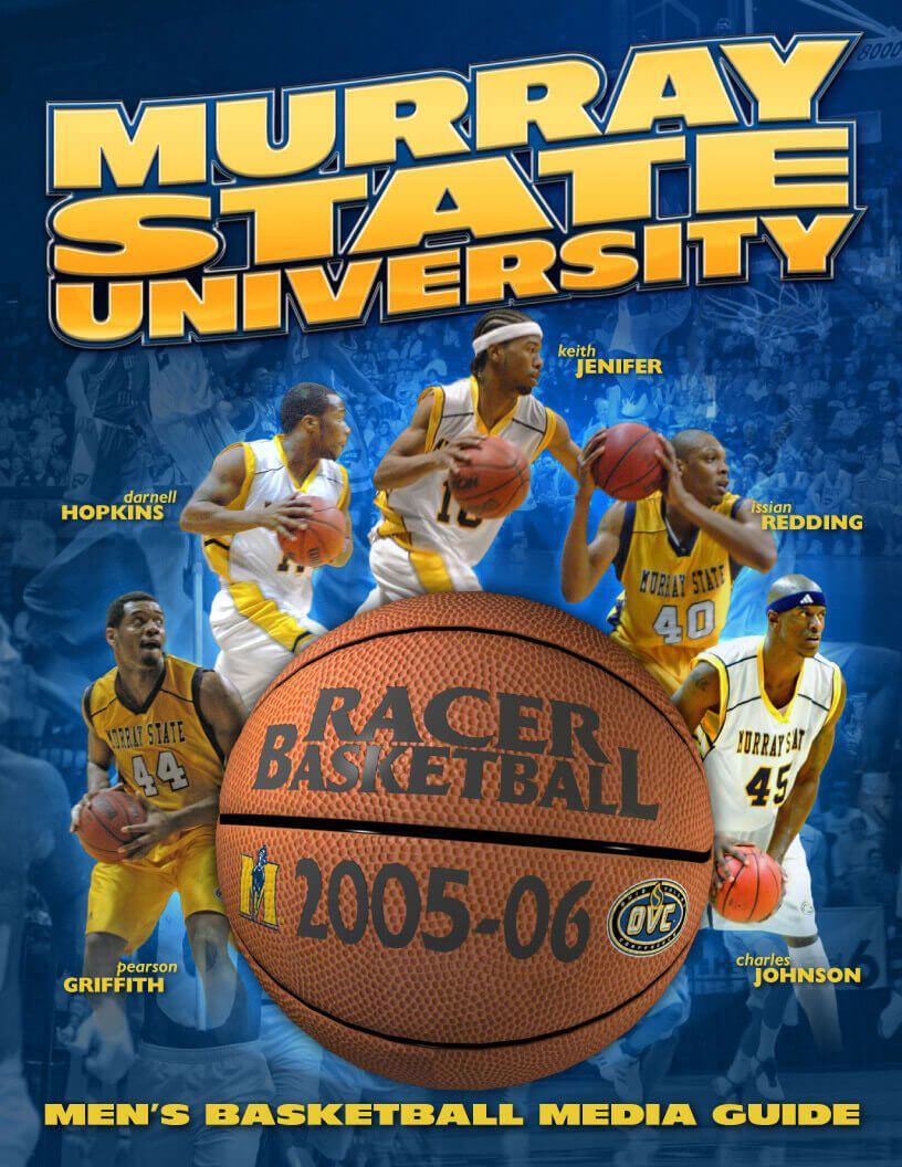 Murray State University basketball media guide cover by EyeSite Creations