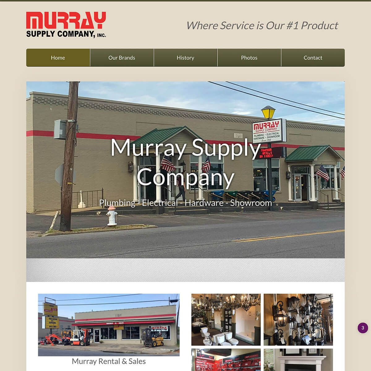 Murray Supply website by EyeSite Creations