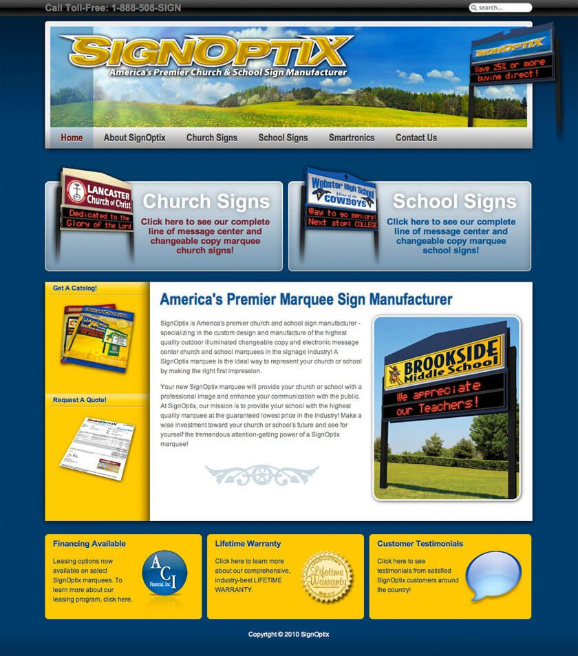 SignOptix website by EyeSite Creations