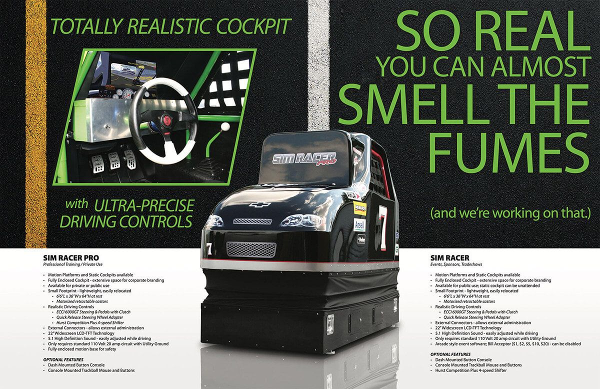 SimRacer brochure by EyeSite Creations