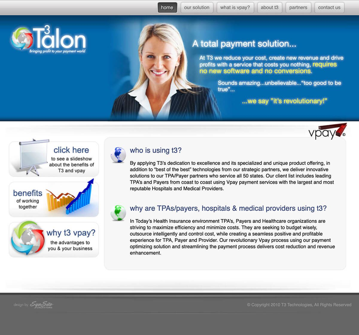 T3 Technologies website by EyeSite Creations